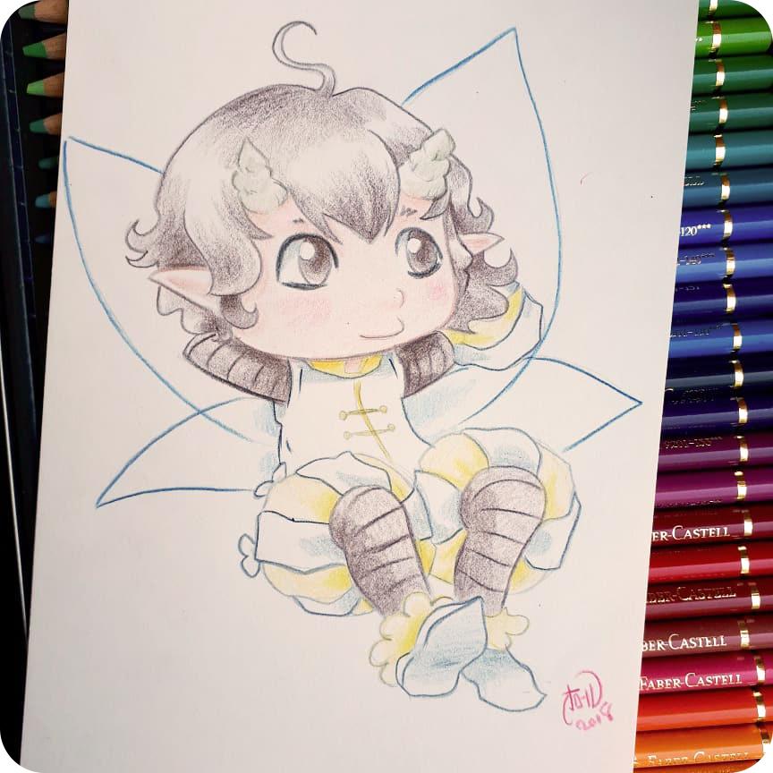 Fée crayon