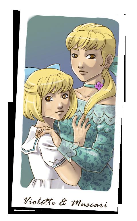 Violette et Muscari