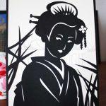 Carte Japonaise monochrome