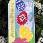 Carte Joyeuses Pâques-Lapins