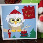 Carte carrée Joyeux Noël-Chouette